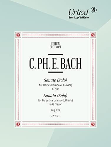 Sonate G-Dur : für Harfe: Carl Philipp Emanuel Bach
