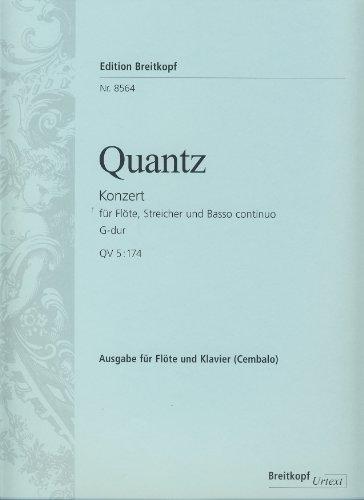 Flötenkonzert G-dur QV 5: 174, Klavierauzug: Johann J. Quantz