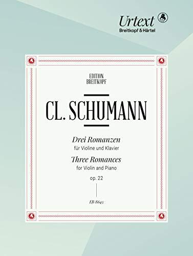 3 Romanzen op.22 :für Violine und klavier: Clara Schumann
