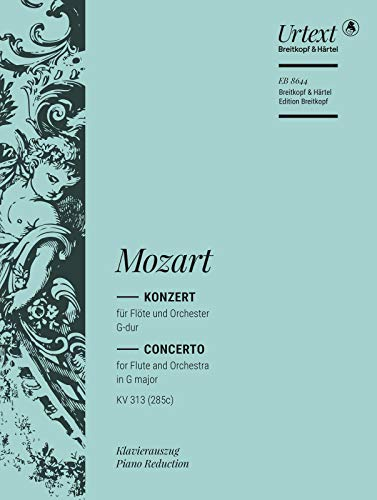 9790004182536: Flötenkonzert G-dur KV 313 (285c) Breitkopf Urtext - Ausgabe für Flöte und Klavier (EB 8644)