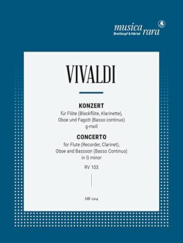 Konzert g-Moll RV103 : für Altblockflöte,Oboe und Fagott: Antonio Vivaldi