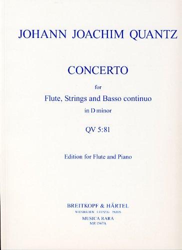 Concerto d minor for flute, stringsand bc : for flute and piano: Johann Joachim Quantz