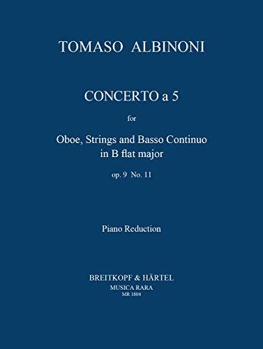 Concerto à cinque B-Dur op.9,11für Oboe und Streicher :: Tomaso Albinoni