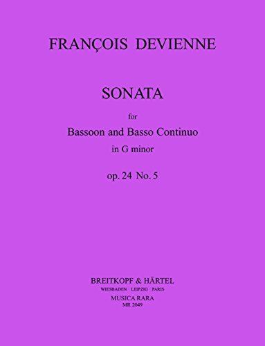 Sonata : for bassoon and piano: Francois Devienne