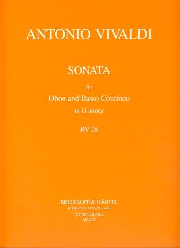 Sonata g minor RV28 : foroboe and bc: Antonio Vivaldi