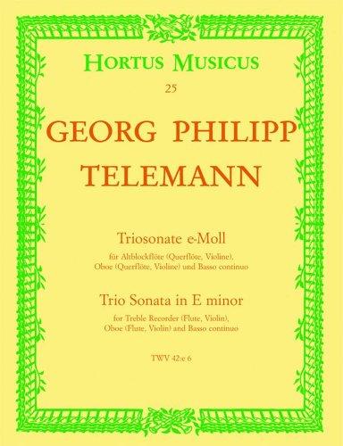 Triosonate e-Moll : fürAltblockflöte (Flöte, Violine),: Georg Philipp Telemann