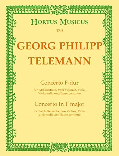 Konzert F-Dur : Blockflöte undStreicher: Georg Philipp Telemann