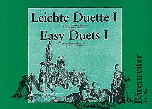 Leichte Duette, 2 Sopranblockflöten in c. H.1