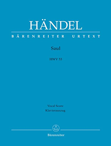 9790006443086: BARENREITER HAENDEL G.F. - SAUL HWV 53 - VOCAL SCORE Classical sheets Choral and vocal ensembles