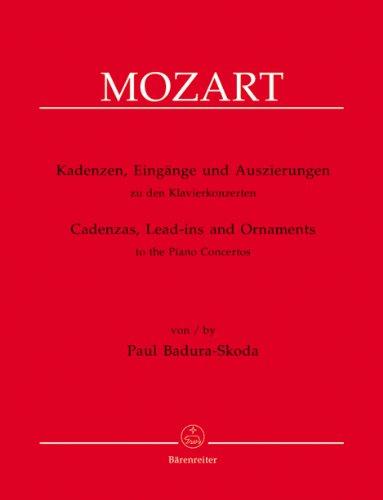 Kadenzen zu den KlavierkonzertenWolfang Amadeus Mozarts : für: Wolfgang Amadeus Mozart