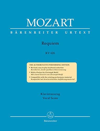 Requiem d-Moll KV 626, Klavierauszug: Urtext der: Wolfgang Amadeus Mozart