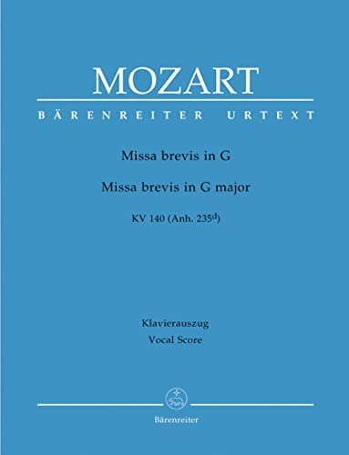 Missa Brevis In G Major, K. 140: Mozart, Wolfgang Amadeus,