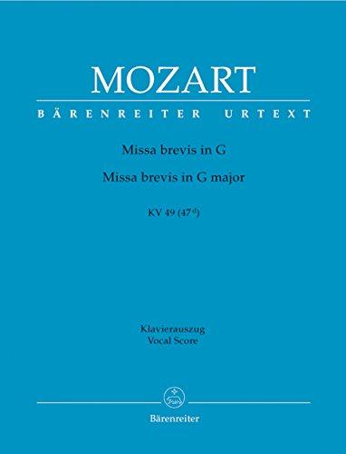 Missa Brevis In G Major, K. 49: Mozart, Wolfgang Amadeus,