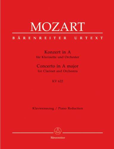 Konzert A-Dur KV622 für Klarinetteund Orchester : für Klarinette und: Wolfgang Amadeus ...