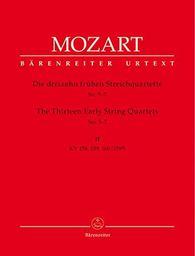 13 frühe StreichquartetteBand 2 KV158-160, Stimmen: Wolfgang Amadeus Mozart