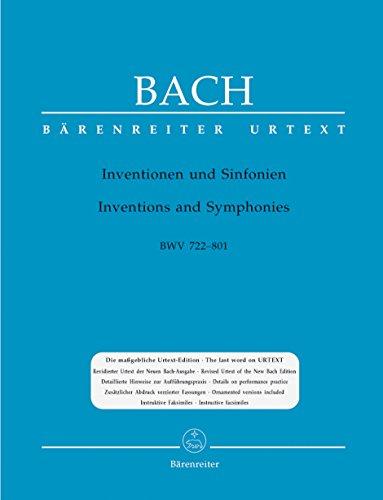 Inventionen und Sinfonien BWV 772-801: Johann S Bach