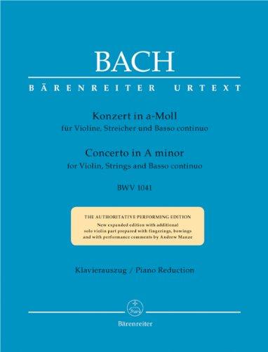 Violinkonzert a-Moll BWV 1041, Klavierauszug : Urtext-: Johann Sebastian Bach