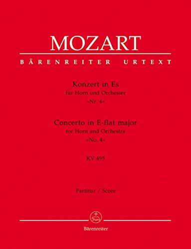 Konzert Es-Dur Nr.4 KV495 :für Horn und Orchester: Wolfgang Amadeus Mozart