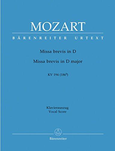 Missa Brevis D-Dur, K. 194 : Piano: Mozart, Wolfgang Amadeus,