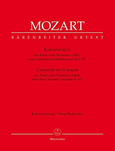 Konzert G-Dur KV622 für Flöte undOrchester : für Flöte und Klavier: Wolfgang ...