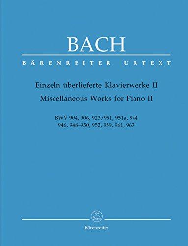 Einzeln überlieferte Klavierwerke Band 2: Johann Sebastian Bach