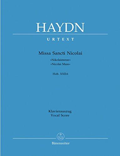 Missa Sancti Nicolai G-Dur Hob 22/6 (Nicolaimesse).: Haydn Joseph