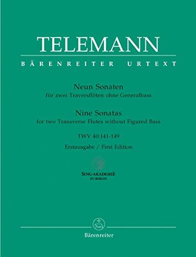 9790006526970: Neun Sonaten fur zwei Traversfloten ohne Bass TWV 40:141-149
