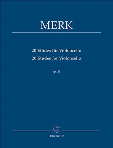 9790006534951: BARENREITER MERK JOSEPH - 20 ETUDES POUR VIOLONCELLE OP.11 Partition classique Cordes Violoncelle