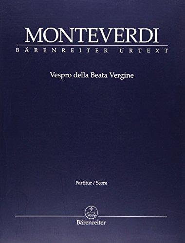 Vespro della Beata Vergine: Partitur (Paperback): Claudio Monteverdi