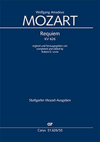 Requiem d-Moll KV 626 (Levin), Klavierauszug: Soli: Wolfgang Amadeus Mozart