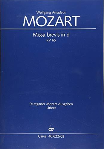 Missa brevis d-Moll KV 65 (61a), Klavierauszug: Mozart, Wolfgang A.