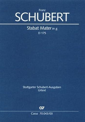 Stabat Mater g-Moll D 175, Klavierauszug: Franz Schubert