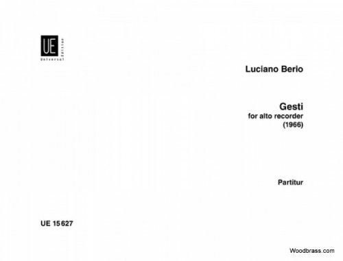Gesti : für Altblockflöte: Luciano Berio