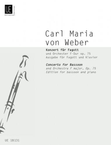 Konzert F-Dur op.75 für Fagott undOrchester : für Fagott und Klavier: Carl Maria von ...