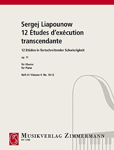 12 etudes op.11 Band 4 (Nr.10-12) :für Klavier: Sergej Mikhaikovich Liapunov