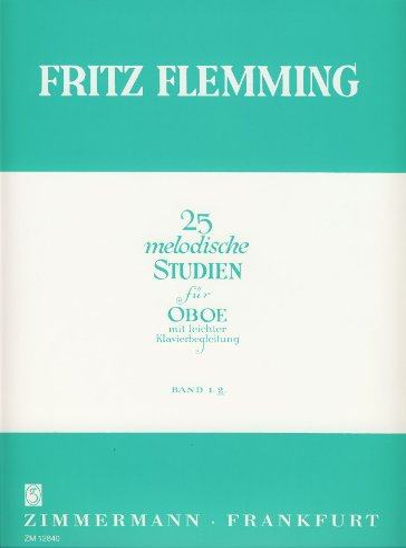 9790010128405: 25 melodische Studien 2: für Oboe mit leichter Klavierbegleitung