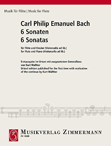 6 Sonaten für Flöte und Klavier. 6 Sonatas for Flute and Piano: Erstausgabe im Urtext mit...