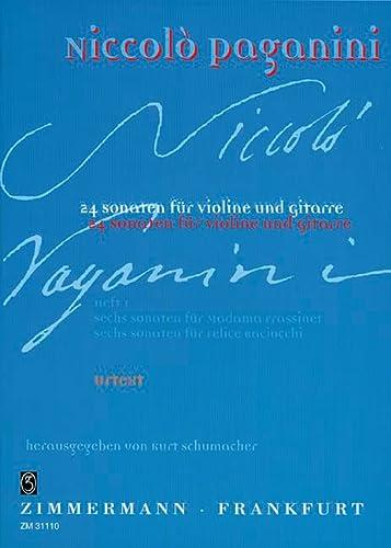 24 Sonaten Band 1 : für Violineund Gitarre: Nicol� Paganini