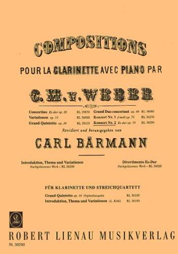 Konzert Nr.2 op.74 fürKlarinette und Orchester :: Carl Maria von Weber