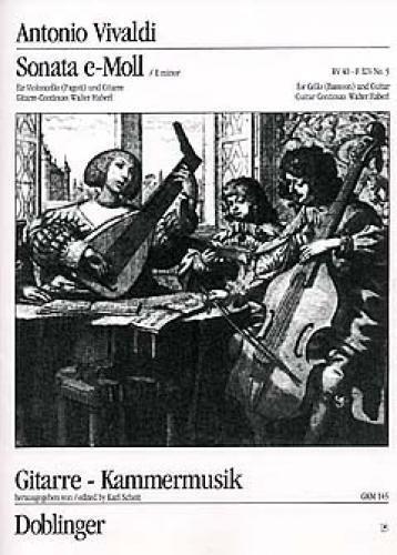 Sonate e-Moll Nr.5 : für Violoncellound Gitarre: Antonio Vivaldi