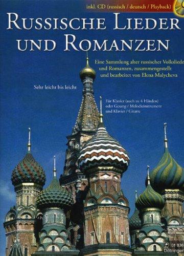 Russische Lieder und Romanzen (+CD) :für Klavier (Klavier zu 4 Händen, Gesang und Klavier...