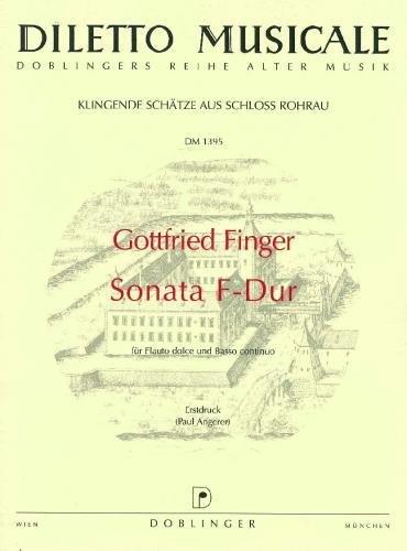 Sonate F-Dur : für Sopranblockflöte und Bc