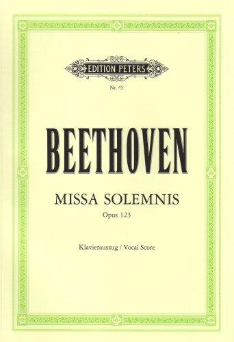 Missa solemnis D-Dur op. 123: für 4: Ludwig van Beethoven
