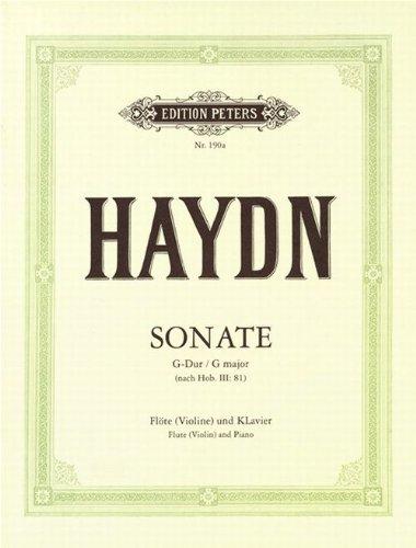 Sonate G-Dur : für Flöte und Klavier: Franz Joseph Haydn
