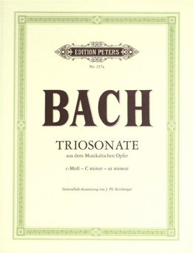Triosonate c-Moll : für Flöte,Violine und Bc: Johann Sebastian Bach