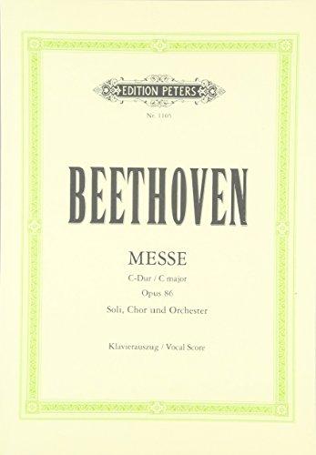 Messe C-Dur op. 86: für 4 Solostimmen,: Ludwig van Beethoven