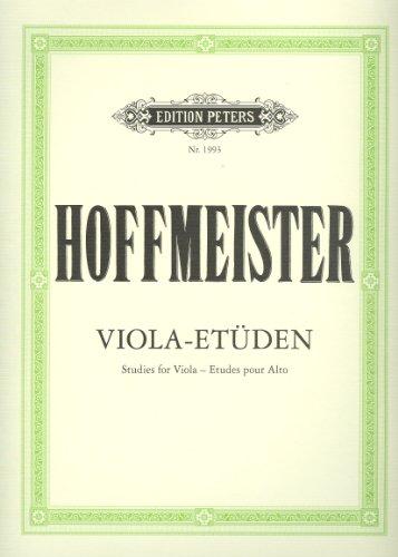 Etüden : für Viola: Franz Anton Hoffmeister