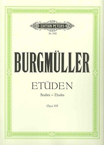 Burgmüller Zwölf brillante und melodische Etüden op 105
