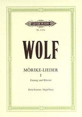 Mörike-Lieder Band 1 :für hohe Singstimme und Klavier (dt/en): Hugo Wolf