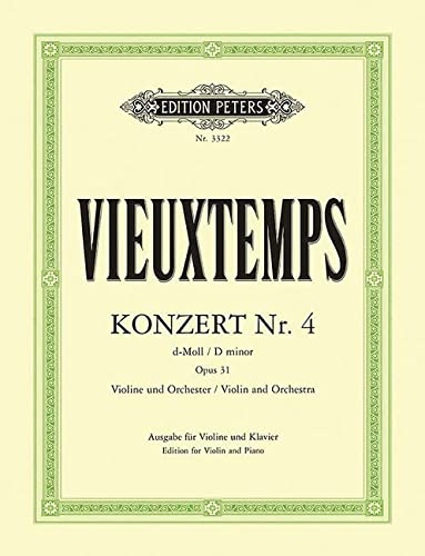 Konzert d-Moll Nr.4 op.31 fürVioline und Orchester : für Violine: Henri Vieuxtemps
